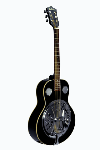 DE ROSA DBI-8-VSB-BK RESONATOR ACOUSTIC GUITAR