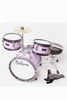 "DE ROSA DRM312-MPK 3 PIECE 12"" KIDS JUNIOR DRUM SET METALLIC PINK"