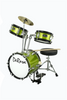 "DE ROSA DRM312-SGR 3 PIECE 12"" KIDS JUNIOR DRUM SET *SPARK COLLECTION* GREEN"