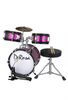 "DE ROSA DRM316-HPK 3 PIECE 16"" KIDS JUNIOR DRUM SET HOT PINK"