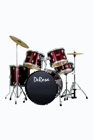 DE ROSA DRM522-WRD 5 PIECE DRUM KIT WINE RED