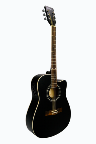 DE ROSA GA300CE-BK DREADNOUGHT CUTAWAY ACOUSTIC-ELECTRIC GUITAR