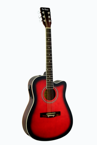 DE ROSA GA300CE-RDS DREADNOUGHT CUTAWAY ACOUSTIC-ELECTRIC GUITAR