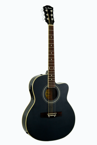 DE ROSA GA700CE-BK CUTAWAY ACOUSTIC-ELECTRIC THIN BODY GUITAR