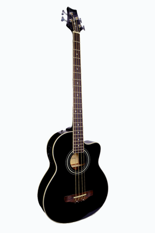DE ROSA GAB47-BK 4 STRING CUTAWAY ACOUSTIC-ELECTRIC BASS GUITAR