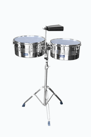 "DE ROSA TIMBALE DRM-TIM SET WITH 4"" COWBELL AND STAND"