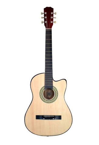 ECONOMY GC3810R-NT 38 INCH NATURAL CUTAWAY FOLK ACOUSTIC GUITAR