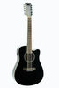 De Rosa GA712CE-BK 12 String Cutaway Acoustic-Electric Thin Body Guitar