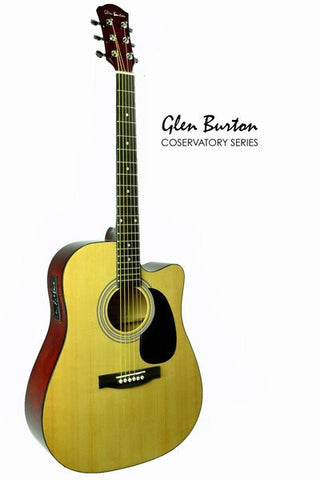 GLEN BURTON CONSERVATORY SGA204CE-NT ACOUSTIC ELECTRIC GUITAR