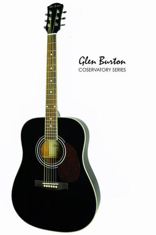 GLEN BURTON CONSERVATORY SGA41-BK DREADNOUGHT ACOUSTIC GUITAR