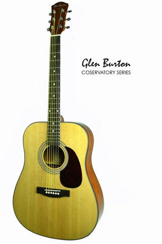 GLEN BURTON CONSERVATORY SGA41-NT DREADNOUGHT ACOUSTIC GUITAR