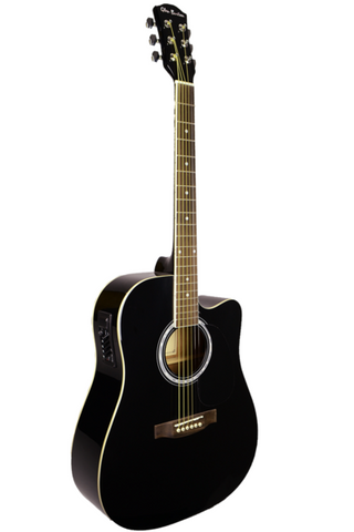 GLEN BURTON GA204CE-BK CUTAWAY ACOUSTIC-ELECTRIC GUITAR