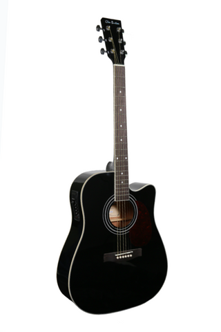 "GLEN BURTON X SERIES GA304CE-BK 41"" ACOUSTIC ELECTRIC CUTAWAY"