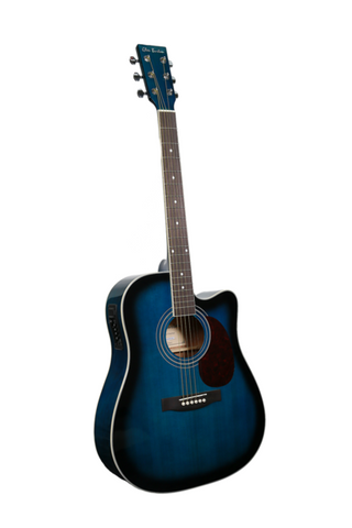 "GLEN BURTON X SERIES GA304CE-BLS 41"" ACOUSTIC ELECTRIC CUTAWAY"