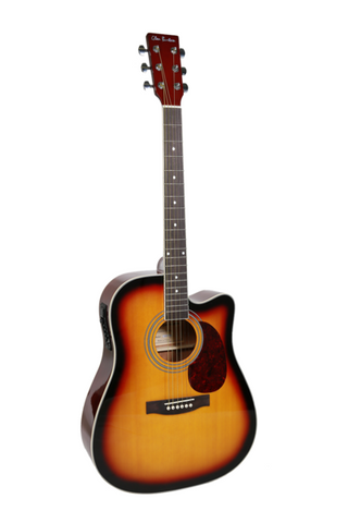 "GLEN BURTON X SERIES GA304CE-TS 41"" ACOUSTIC ELECTRIC CUTAWAY"
