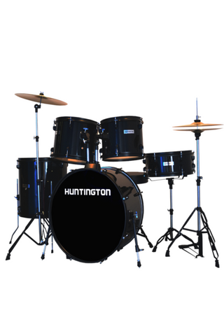 HUNTINGTON DRM500-BK 5 PIECE DRUM KIT BLACK