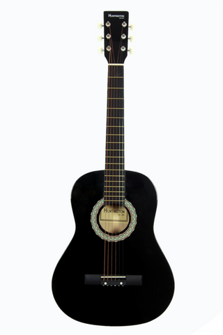 HUNTINGTON GA36-BK KIDS 3/4 SCALE ACOUSTIC STEEL STRING GUITAR BLACK