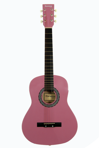 HUNTINGTON GA36-PK KIDS 3/4 SCALE ACOUSTIC STEEL STRING GUITAR PINK