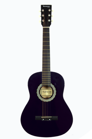 HUNTINGTON GA36-PL KIDS 3/4 SCALE ACOUSTIC STEEL STRING GUITAR PURPLE