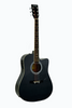 "HUNTINGTON GA41C-BK 41"" DREADNOUGHT CUTAWAY ACOUSTIC GUITAR"
