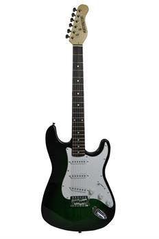 HUNTINGTON GE139-GRS OUTLAW SOLID BODY S-TYPE ELECTRIC GUITAR