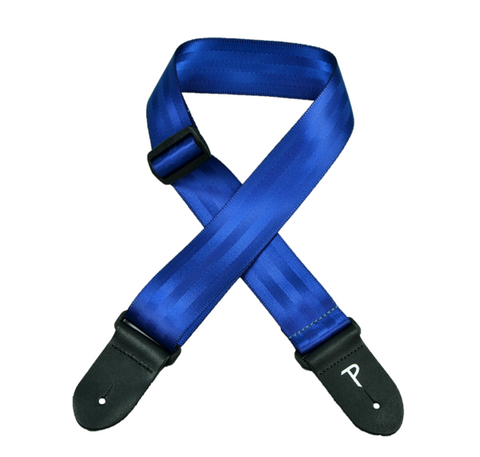 NAVY BLUE SEATBELT GS-P1695NB POLY WEB DESIGN GUITAR STRAP