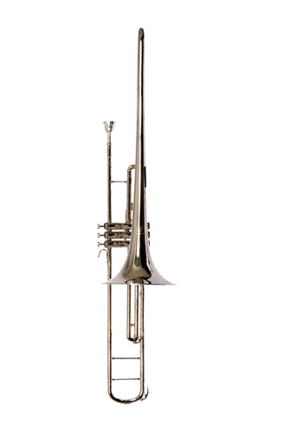 B - U.S.A. WTB-NKV Valve Trombone Nickel TONO DO  KEY OF C