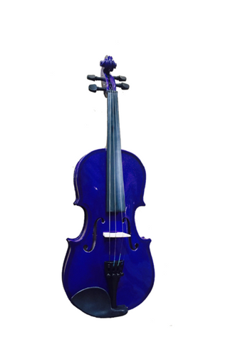 COLORED 4/4 SIZE VIOLIN ENSEMBLE  FINISH BLUE VI4412R-MBU