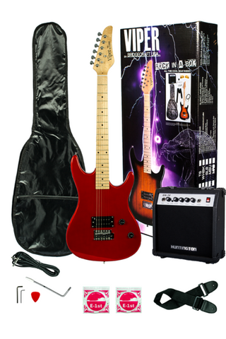 VIPER GE93CO-MRD SOLID BODY ELECTRIC GUITAR COMBO PACKAGE