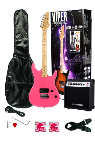 VIPER GE93CO-PK SOLID BODY ELECTRIC GUITAR COMBO PACKAGE