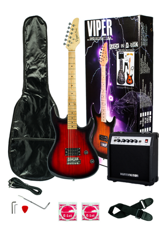 VIPER GE93CO-RDS SOLID BODY ELECTRIC GUITAR COMBO PACKAGE