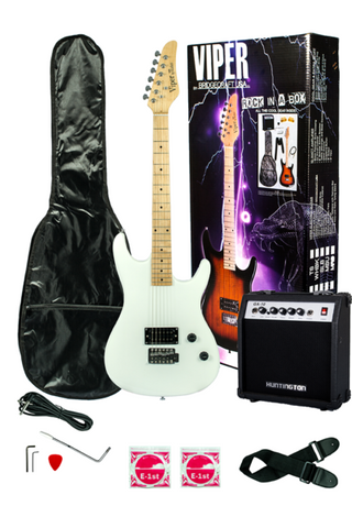 VIPER GE93CO-WH SOLID BODY ELECTRIC GUITAR COMBO PACKAGE