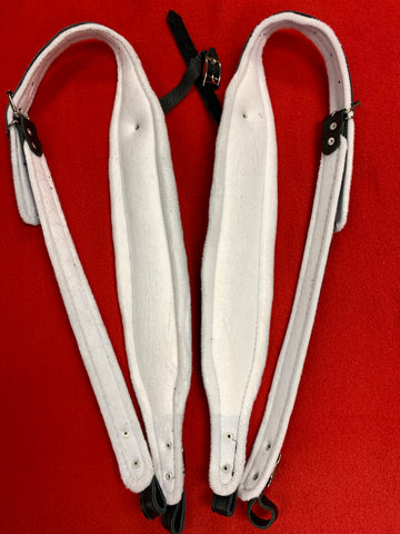 ACCORDION STRAPS NORTEÑO 2 WHITE VELVET/BLACK LEATHER