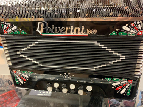 ITALIAN POLVERINI ACCORDION TEX-MEX-2 black /3112