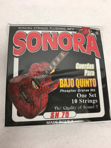 STRINGS CUERDAS SONORA BAJO QUINTO PHOSPHOR BRONZE WD SET OF 10 strings SN75