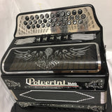 POLVERINI ACCORDION ITALIAN black tono  FA with 5 switch free shipping