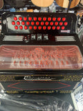 POLVERINI  Accordion Latino-2 3412 3 switch Black w red button SOL