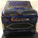 POLVERINI ACCORDION 100% ITALIAN BLUE 3412  & 5 switch tono  SOL free shipping