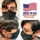 HAND MADE MOUTH FACE MASK 4-layers ,COTTON WASHABLE AND REUSABLE BREATHABLE