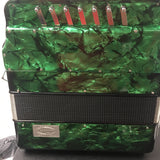 POLVERINI ACCORDION ITALIAN GREEN  with 2 tone FA/MI &3 switch free shipping