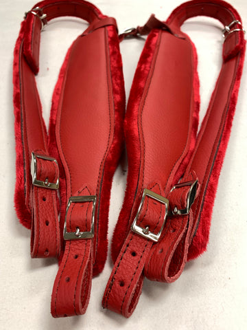 ACCORDION STRAPS NORTEÑO 123  DON CORTEZ RED LEATHER  W RED XL