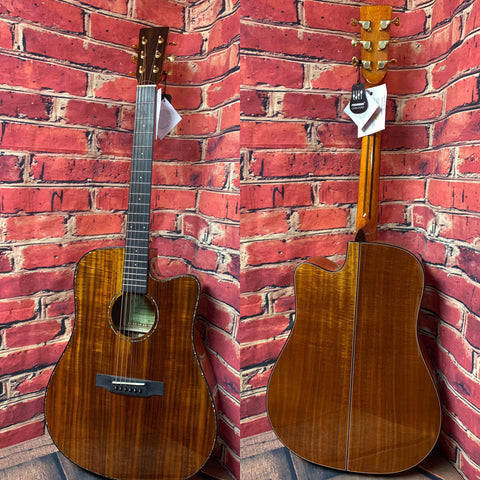 DON CORTEZ GUITAR Acoustic Electric Guitar SONORA J875  ACACIA WOOD