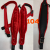 ACCORDION STRAPS/ CORREAS 104 APPLE RED/bk leather
