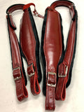 ACCORDION STRAPS NORTEÑO 153RED WINE LEATHER/ BLACK  XL