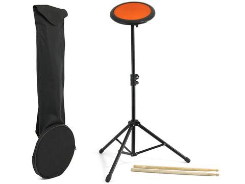 Drum pad rubber, with bag and sticks