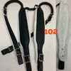 DON CORTEZ ACCORDION STRAPS CORREAS 102 PIEL NEGRA Y BLANCO