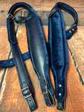 ACCORDION STRAPS 126 DON CORTEZ DARK BLUE LEATHER W BLUE
