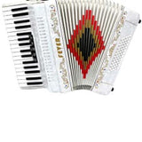 Fever F3460‑WH Piano Accordion 5 Switches 34 KEY 60 bass