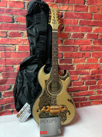 DON CORTEZ  BAJO QUINTO RC100 Metallic GOLD W EMG BK PICK UP HAND MADE