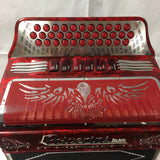 ACCORDION POLVERINI ITALIAN RED 2tone  sol/fa  34/12 & 5 switch free shipping